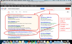 Impossible Marketing ranked page 1 number 1 in Google