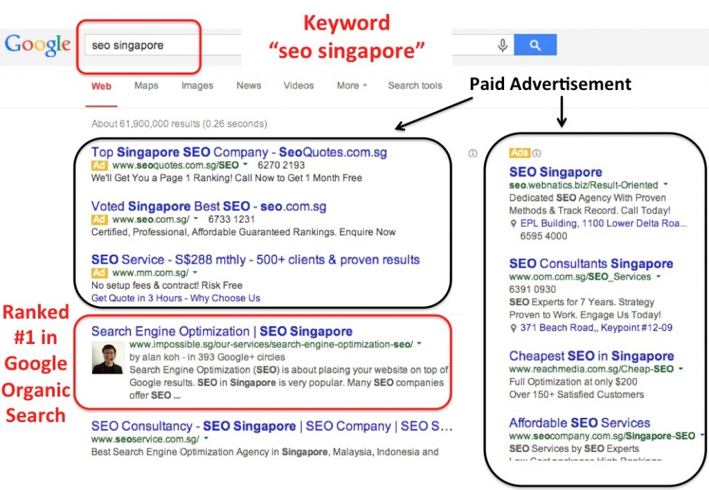 "Impossible.sg is ranked #1 for keyword ""seo singapore"""