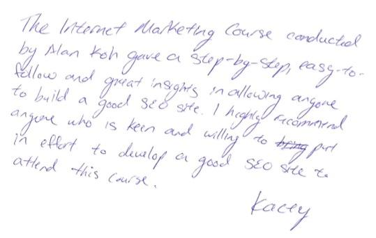 Kacey testimonial