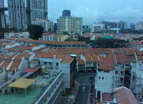 Our office view of Tanjong Pagar - we love the view!