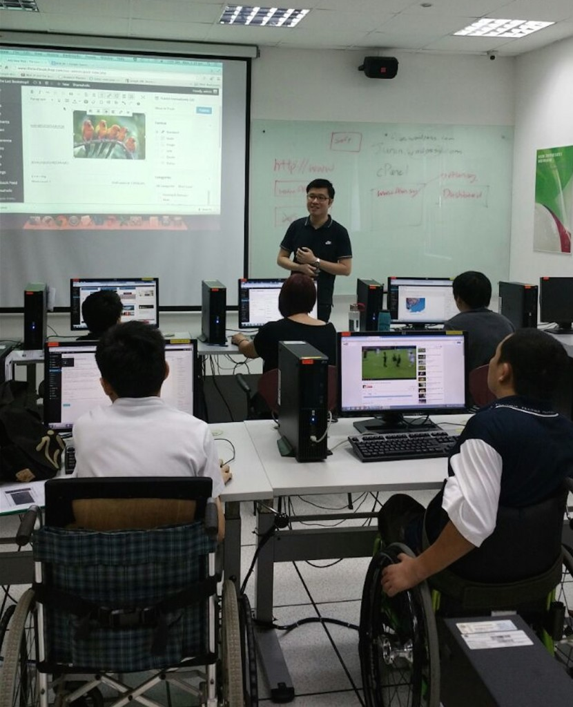 Our principal trainer, Alan Koh, conducting the training