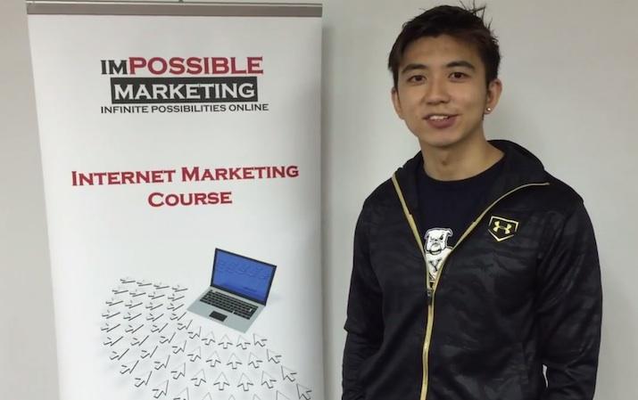Photo of Alvin when taking testimonial