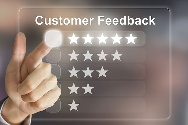 Recommended online customer feedback
