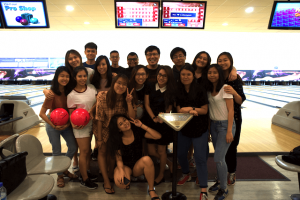 October 2018 Team Bonding: Word up, Jenga and Bowling!