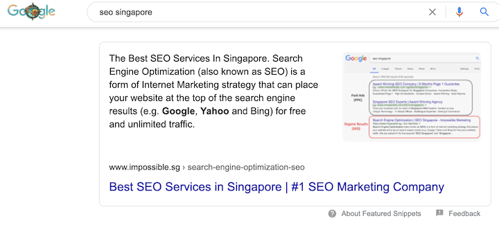 Optimise for featured snippets