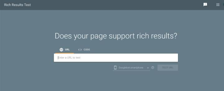 Test your site with the Rich Results Test tool
